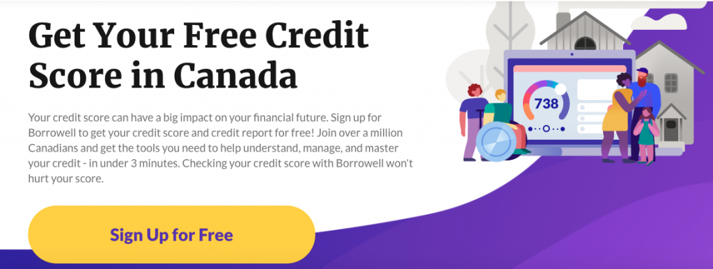 Free Credit Score in Canada - Borrowell Credit Score